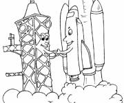 Coloring pages Custom Space Rocket