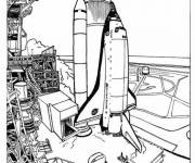 Free coloring and drawings Shuttle before takeoff Coloring page