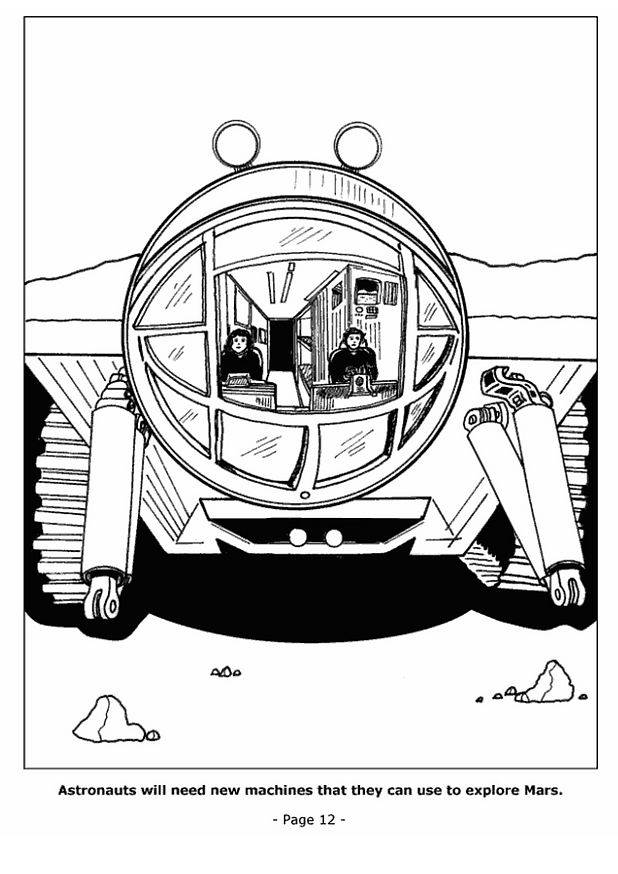 Free coloring and drawings Shuttle on Mars Coloring page