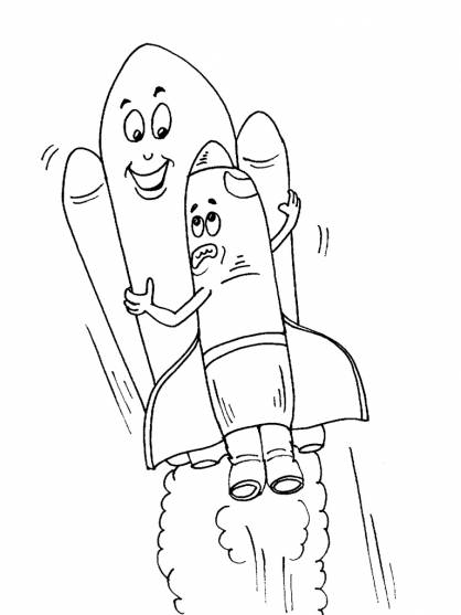 Free coloring and drawings Shuttle that makes you laugh Coloring page