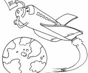 Coloring pages Shuttle with a letter