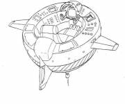 Free coloring and drawings Space shuttle to download Coloring page