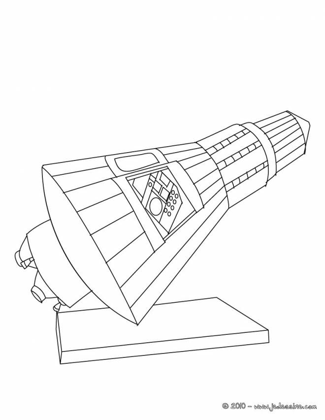 Free coloring and drawings Stylized online shuttle Coloring page