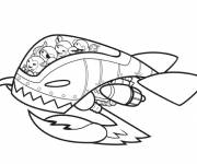 Free coloring and drawings The Discoverers shuttle Coloring page