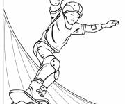 Free coloring and drawings Color skatepark Coloring page