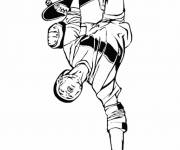 Free coloring and drawings Professional skateboarder Coloring page