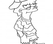 Free coloring and drawings Simpson lisa Coloring page
