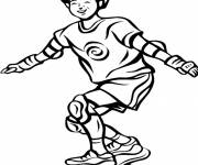 Free coloring and drawings Skateboarder having fun on the board Coloring page