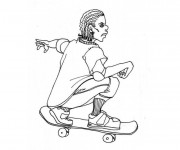 Free coloring and drawings Sport Skateboard Coloring page