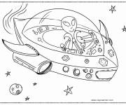Coloring pages Alien spaceship