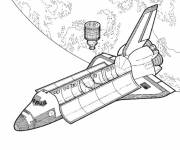 Coloring pages Realistic rocket and space