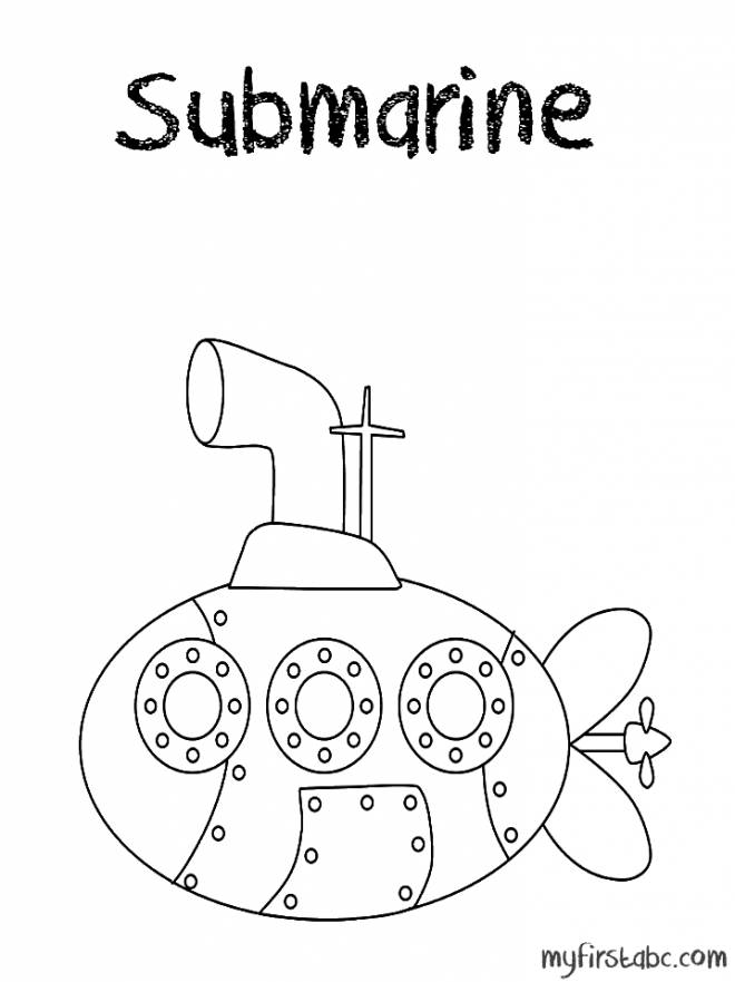Free coloring and drawings A magic submarine Coloring page