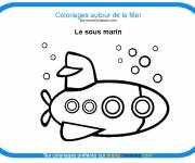 Free coloring and drawings A small submarine Coloring page