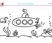 Free coloring and drawings Children's seabed Coloring page