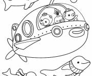 Free coloring and drawings Octonauts in their submarine Coloring page