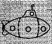 Coloring pages Simple Submarine