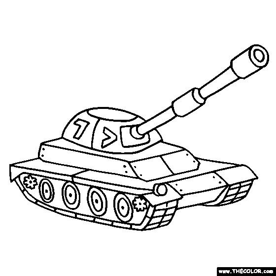 Free coloring and drawings Armored tank Coloring page