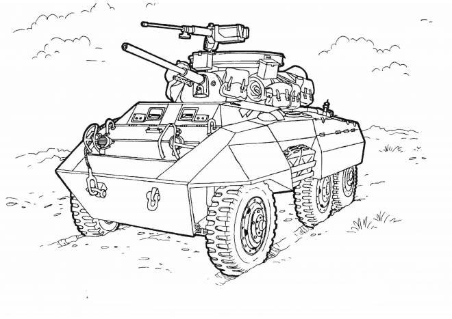 Free coloring and drawings Carving war chariot Coloring page