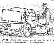 Coloring pages Classic war tank
