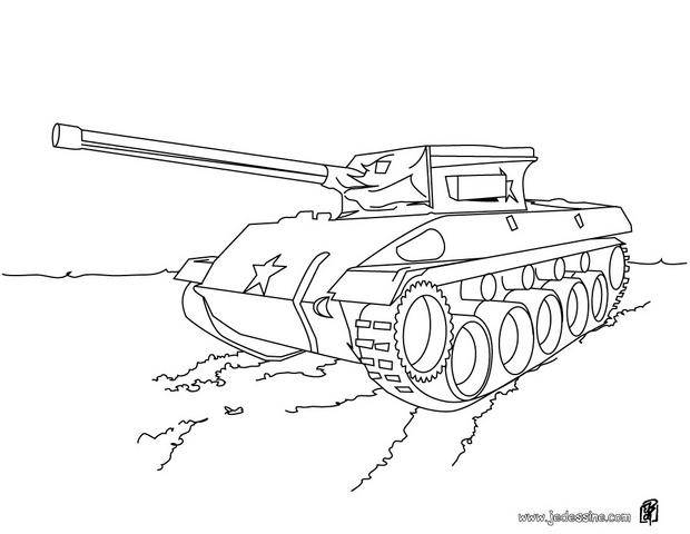 Free coloring and drawings Color military vehicle Coloring page