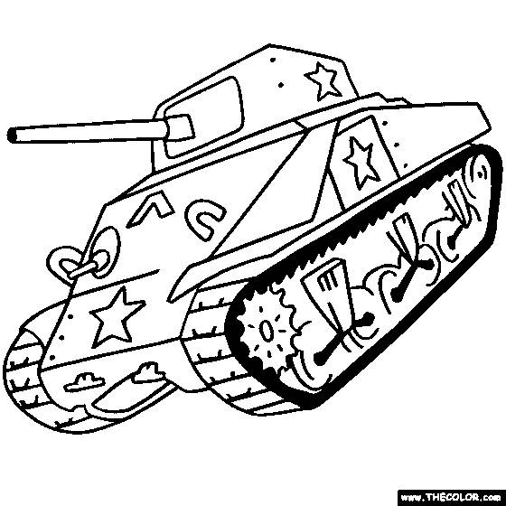 Free coloring and drawings Coloring tank Coloring page