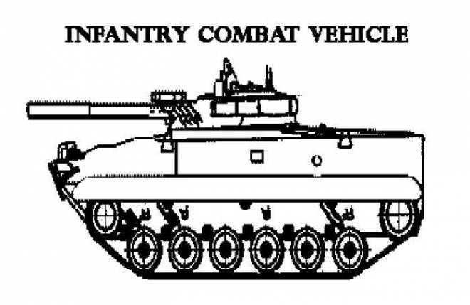 Free coloring and drawings Combat vehicle to download Coloring page