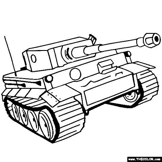 Free coloring and drawings drawing tank online Coloring page