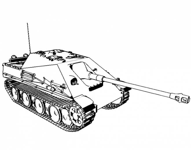 Free coloring and drawings Easy tank Coloring page
