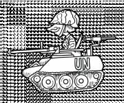 Coloring pages Humorous tank