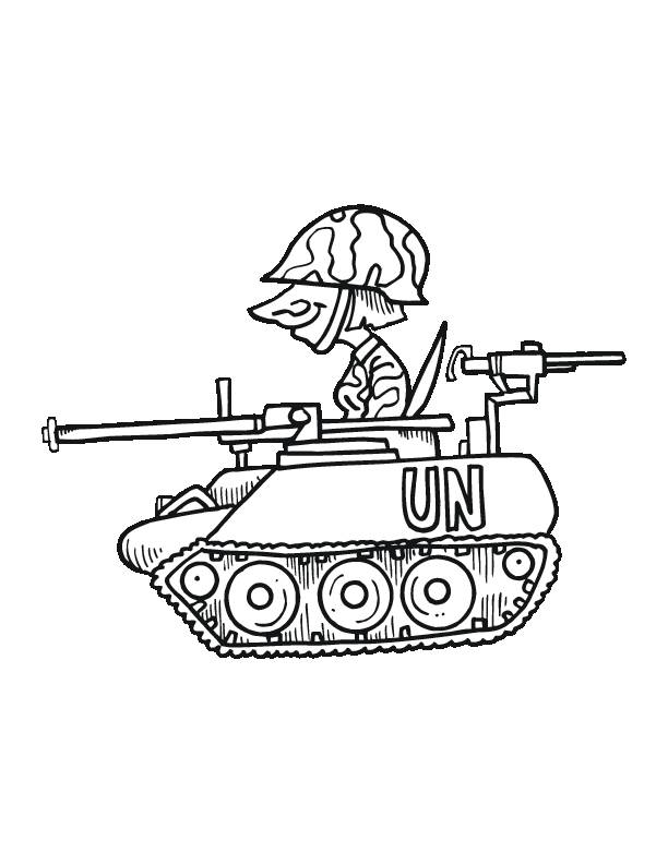 Free coloring and drawings Humorous tank Coloring page