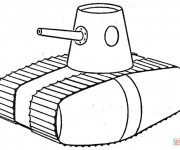 Coloring pages Illustration Tank