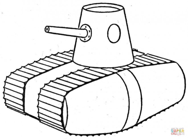 Free coloring and drawings Illustration Tank Coloring page