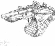 Coloring pages Magic tank in pencil