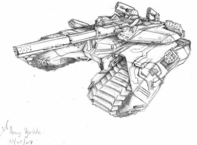 Free coloring and drawings Magic tank in pencil Coloring page