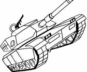 Coloring pages Maternal military tank