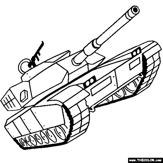 Free coloring and drawings Maternal military tank Coloring page