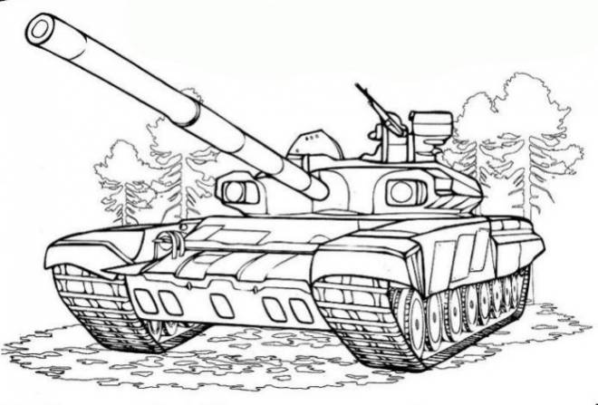 Free coloring and drawings Maternal tank Coloring page
