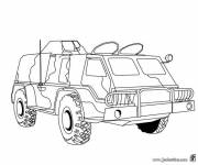 Coloring pages Military armored vehicle