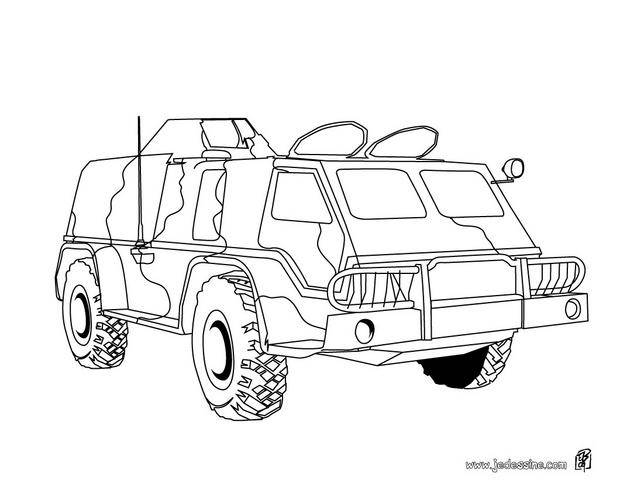 Free coloring and drawings Military armored vehicle Coloring page