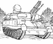 Coloring pages Military Tank