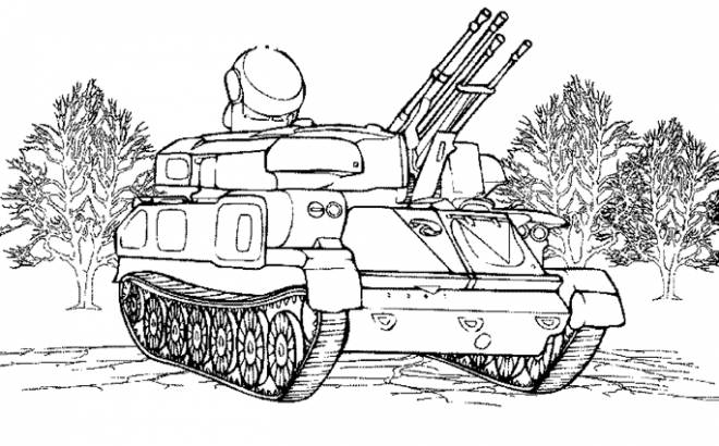 Free coloring and drawings Military Tank Coloring page