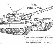 Coloring pages Military tank to color