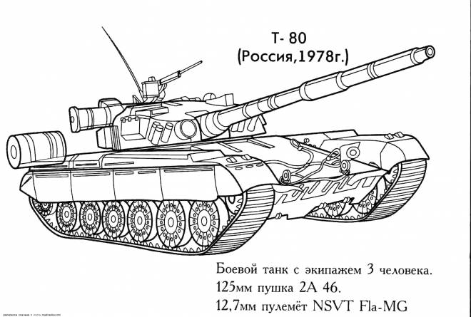 Free coloring and drawings Military tank to color Coloring page