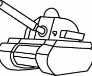 Coloring pages Mini War Cat