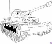 Coloring pages Online Tank
