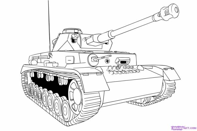 Free coloring and drawings Online Tank Coloring page