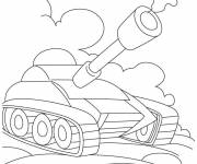 Coloring pages Powerful tank easy