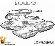 Coloring pages Realistic tank