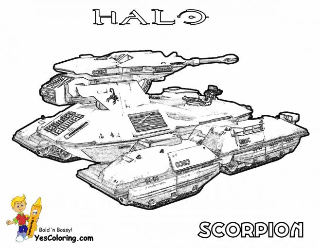 Free coloring and drawings Realistic tank Coloring page