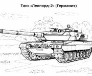 Coloring pages Russian military tank for kids